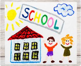 school-tekening